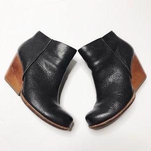 Kork-Ease Black Leather Booties